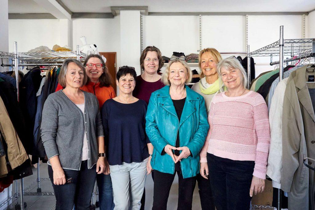 Team der Sachspendenannahme (Foto: Christina Kratzenberg)